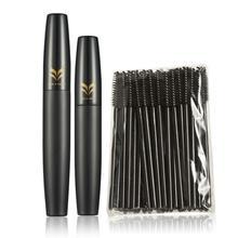 Huamianli 50pcs Disposable Black Eyelash Curler + 3D Mascara Makeup Combination Nov.24(China (Mainland))