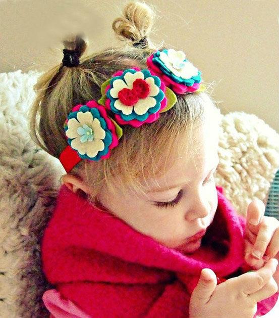 1PC flower baby girls hair band accessories fashion kids headband Headwear - No.02 Store store