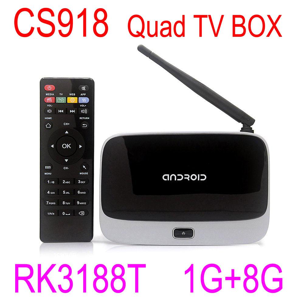 HDD Player WoYi CS918 Android 4.4 TV Box Full HD 1080P RK3188T Quad Core Media Player 1GB/8GB XBMC Kodi Wifi Antenna(China (Mainland))