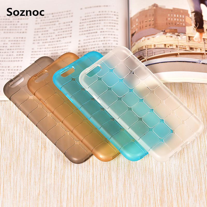 Soznoc New arrival For Rubiks Cube Soft Anti-Skid Squares TPU case For iphone 7 7 plus 6s 6 plus 4G 4s 5G 5s 5c Phone back Cover(China (Mainland))