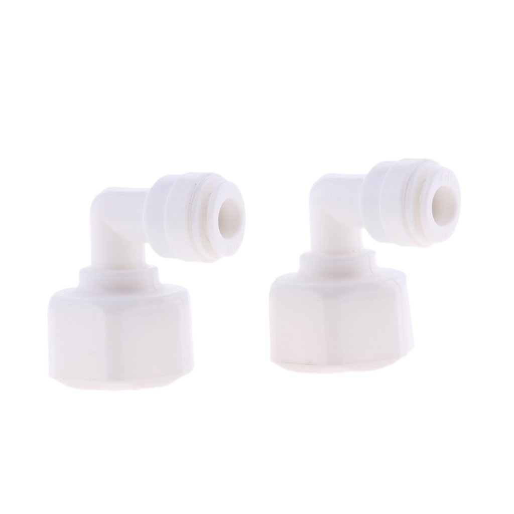 5 Pieces 3/8inch Pushfit to 1/2inch Thread Ball Valve Connector Fitting - Fridge Pipe , RO Water Reverse Osmosis Tubing