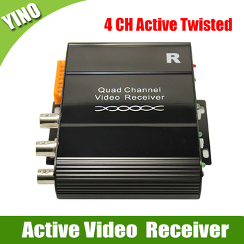 CCTV Accessories 4 CH UTP Twisted Pair Active Video Receiver free shipping