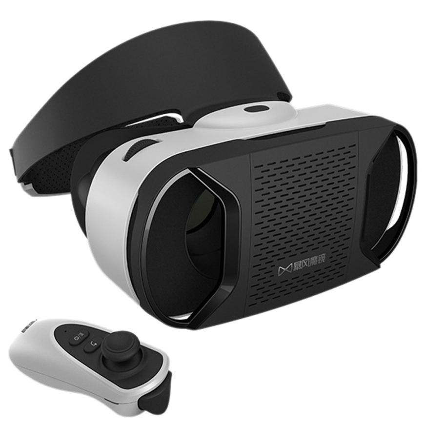 Factory Price for Google Cardboard WIFI VR BOX Virtual Reality 3D Glasses For Samsung Galaxy S7 + Remote Control Mmar7(China (Mainland))