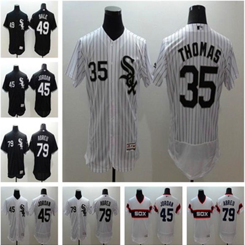 Cheap Mens Chicagos #49 Chris Sale #79 Jose Abreu FLEXBASE 100% Stitched Baseball Jersey White Black Gray Blank(China (Mainland))