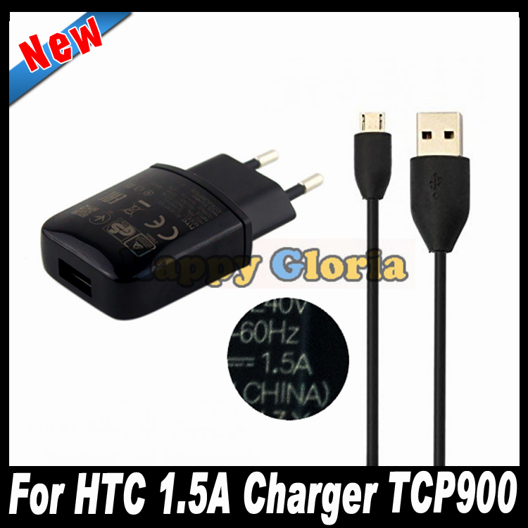 High Quality 5V 1.5A TCP900 Wall Charger Adapter Micro USB Data Cable For HTC One M9 Max One2 M8 ONE 2 M7 MAX T6 E8 Sensation XL(China (Mainland))