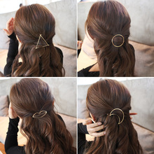 Metal Ponytail Holder with Different shape Hairclips women hair accessories for a half-up hairstyle