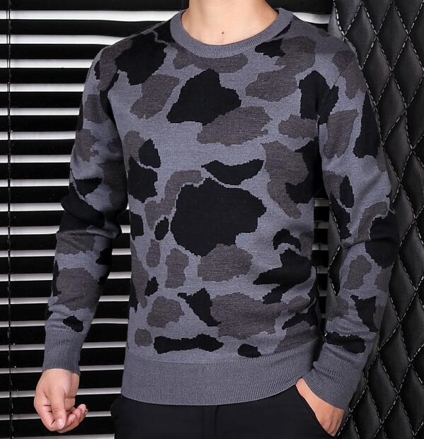 Sell Fall Winter Men's Camouflage Printed Sweater Crew Neck Knitting Wear Outlets Premium Quality Hot M-3XL - Selected Fine Goods store