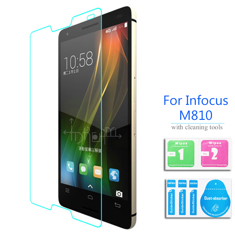 0.26mm 5.5'' Explosion-proof Tempered Glass Film for Foxconn InFocus M810 M810t Front LCD Screen Protector pelicula de vidro