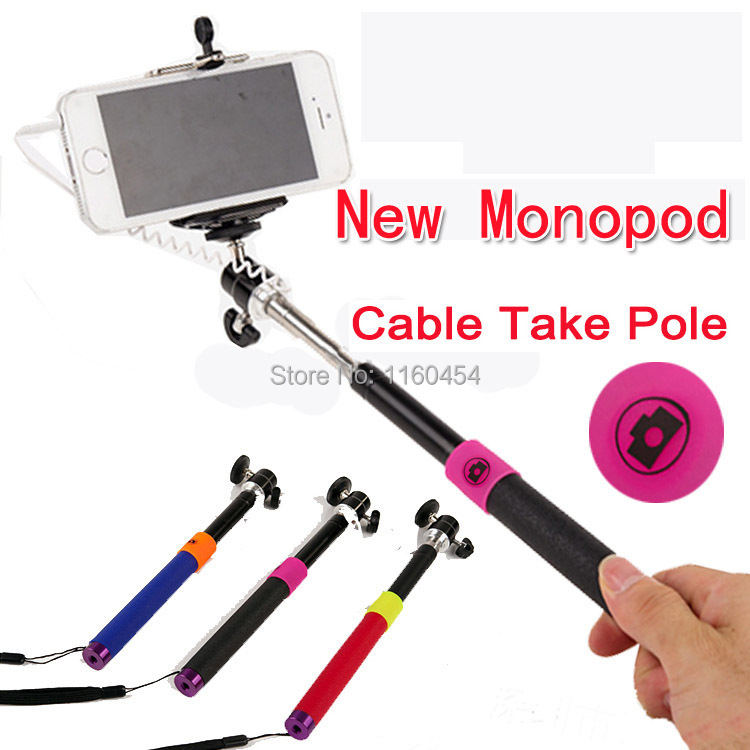 buy hotmoblie phone monopod audio cable take pole selfie sti. Black Bedroom Furniture Sets. Home Design Ideas