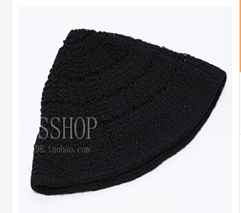 South Korea's official website Ribbontie retro hair mixed color knitted hat spire trendsetter warm winter hat(China (Mainland))