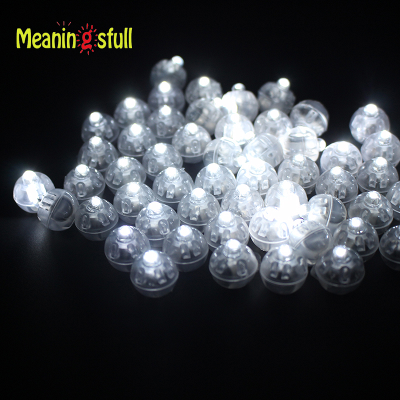 30pcs/Lot White Led Balloon Lights Round Ball Lamps For Paper Lantern Wedding Christmas Halloween New Year Party Decorations(China (Mainland))