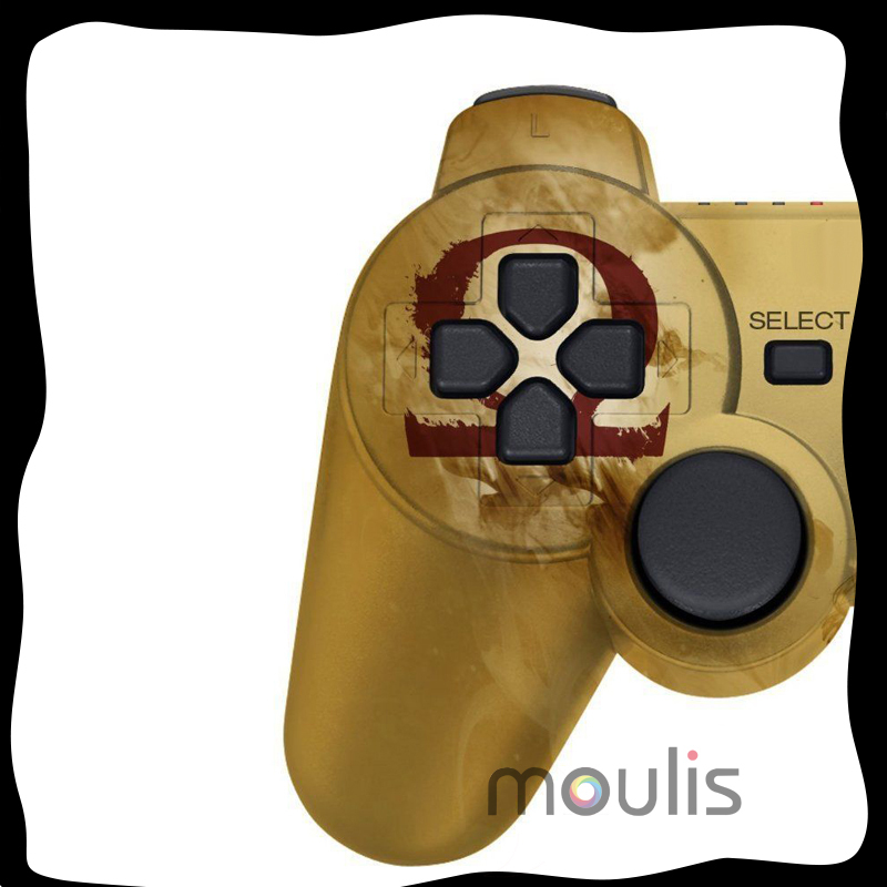 Free shipping NEW God of war Mars wireless Bluetooth SixAxis Game Gamepad Original For PS3 controller joystick(China (Mainland))