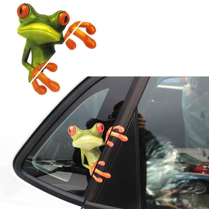 Popular 3D Car Sticker And Decals Peep Frog Funny Car Stickers Decoration Truck Window Decal Graphics Sticker Suzie Anne(China (Mainland))