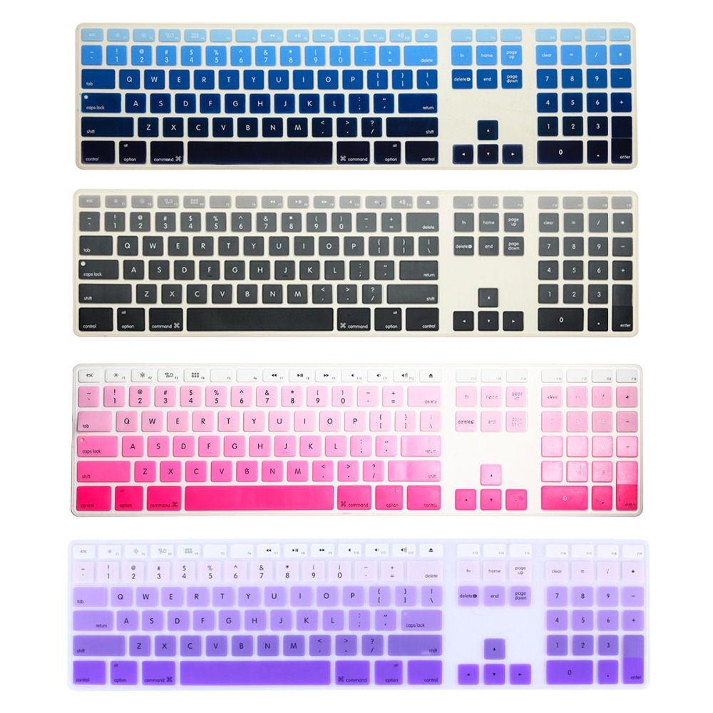 Ultra Thin silicone keyboard cover with a numeric keypad for Apple iMac G5/G6 MB110LL/B wire keyboard(China (Mainland))