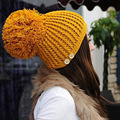 WOMENS Solid Color Drape Winter Hats Lady s Solid Color Drape Caps 7 Colors Knitted Headwears