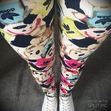 Legging 2016 Summer Slim Plus Size Woman Jeggings High Quality Sport Gym High Waist Color Leggings Ladies Sexy Patterned Leggins(China (Mainland))