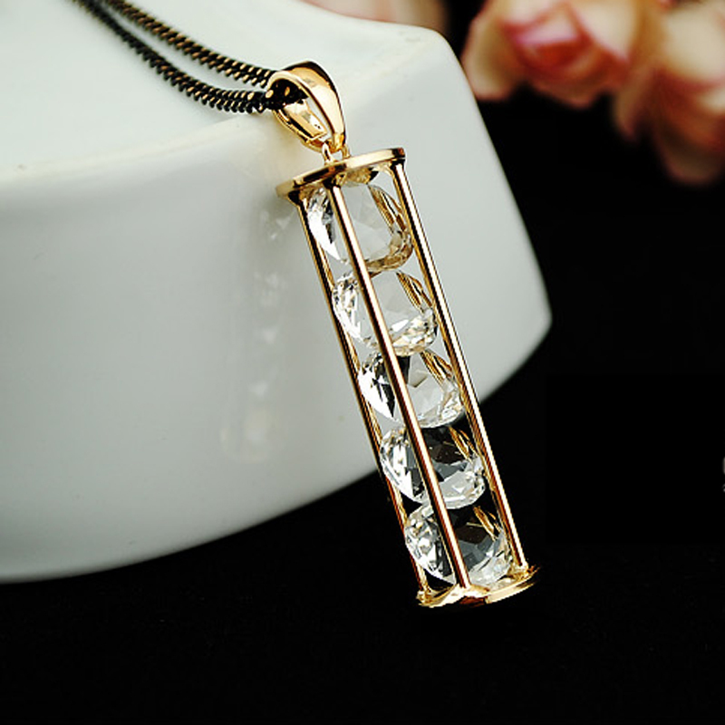 2015 New Fashion Womens Fine pendants Necklace Love Hourglass Long Chain pendant Necklaces For Women Accessories jewelry Shop(China (Mainland))