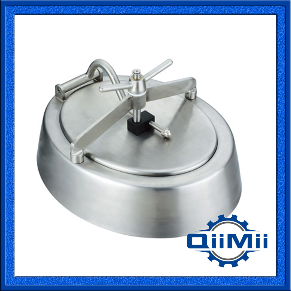 480x580mm SS304 Oval manways ;Sanitary Manhole Cover,Stainless steel manway(China (Mainland))