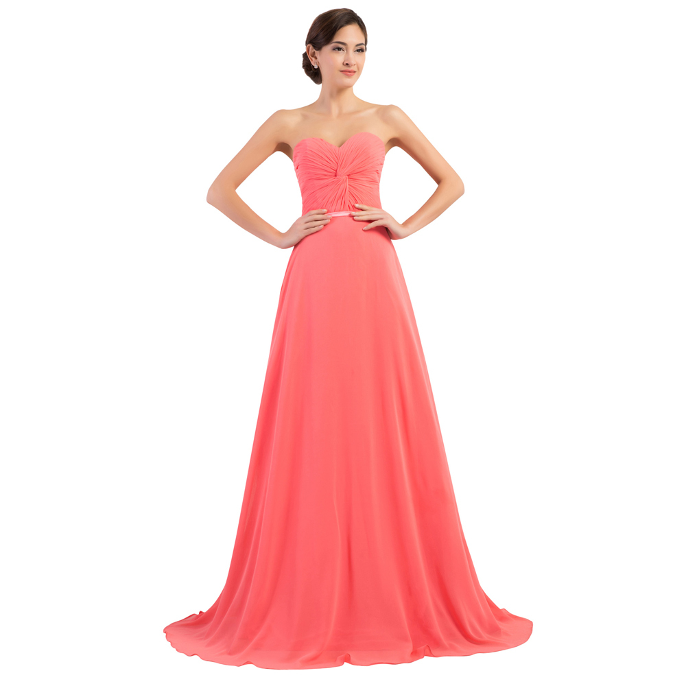 Buy hot sale sweetheart coral colored for Plus size wedding party dresses