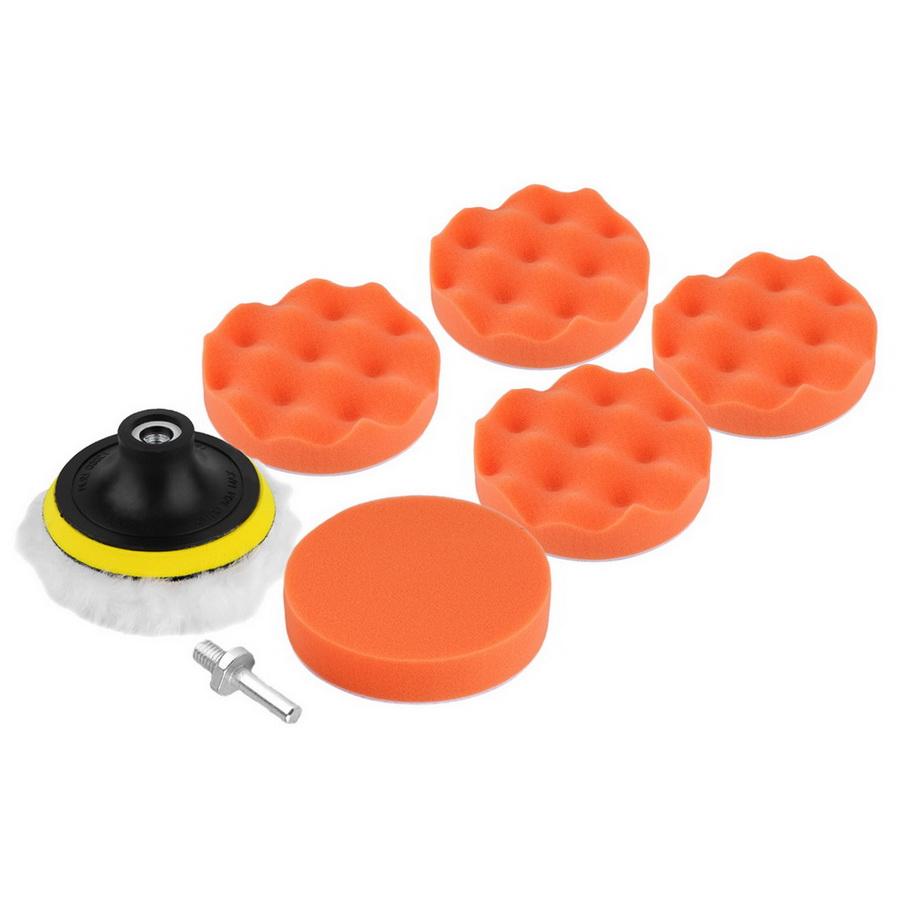 8 Pcs/Set 4 inch Buffing Pad Auto Car Polishing Sponge Wheel Kit With M10 Drill Adapter Buffer High Gross