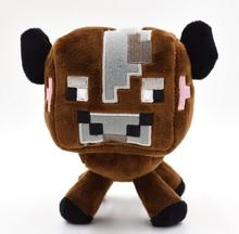 Free shipping Minecraft plush toys Brown Cow  Cheapest Sale High Quality Plush Toys Cartoon Game Toys(China (Mainland))