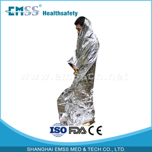 10pc Silver Foil space blanket outdoor sport emergency survival blanket(China (Mainland))