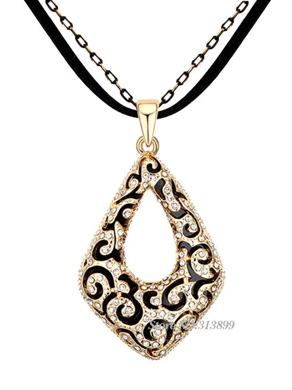 Fashion Trendy 2015 New Arrival Spring Austrian Crystal Sweater Chain Love Cube Boutique Long Necklace Pendant Jewelry Wholesale(China (Mainland))