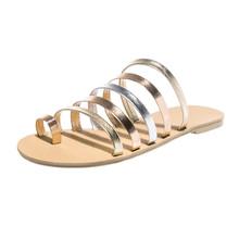 El 2019 de las mujeres zapatillas de playa verano Zapatos casuales zapatos planos de las señoras correa de talón zapatillas romano zapatos de mujer zapatos Flip Flops casuales al aire libre caliente(China)