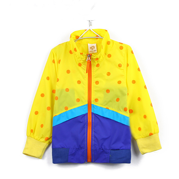 2015 autumn spring and autumn clothing boys girls clothing baby child trench outerwear A0990(China (Mainland))