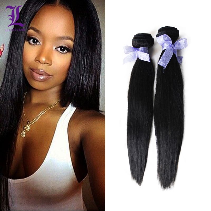 Remy Queen Hair Products Indian Virgin Hair Straight 6A Unprocessed Indian Straight Hair 2 Bundle Indian 100% Virgin Human Hair