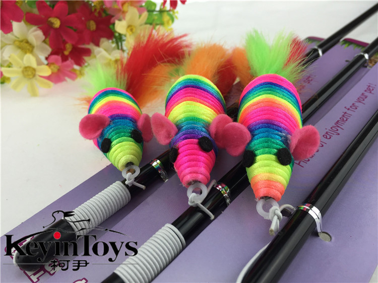 HOT wholesale 2015 new style cat toys dog toys pet toys cat teasers sale by bulk cat ticklers with happy bird Free Shipping(China (Mainland))