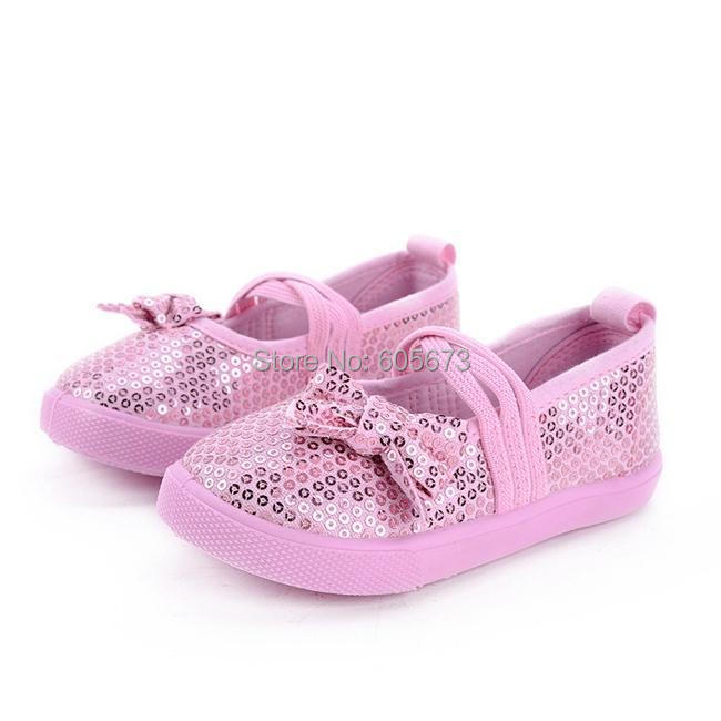 Free UPS ship girls Canvas sequins shoes Sequin Fashion Sneaker princess shoes Casual Boat Shoe 2-6Year baby sandals 16pc=8pairs(China (Mainland))