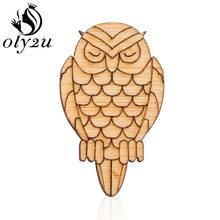 Oly2u Peta Dunia Bros Pin untuk Wanita Kayu Geometris Bros Bulat Kayu Kerah Pin Pakaian Perempuan Perhiasan Dekorasi(China)