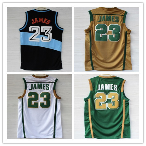 Гаджет  St. Vincent St. Mary High School #23 Lebron James Jersey,Rev 30 Throwback Basketball Jersey,Embroidery Logo,Authentic Jersey None Спорт и развлечения