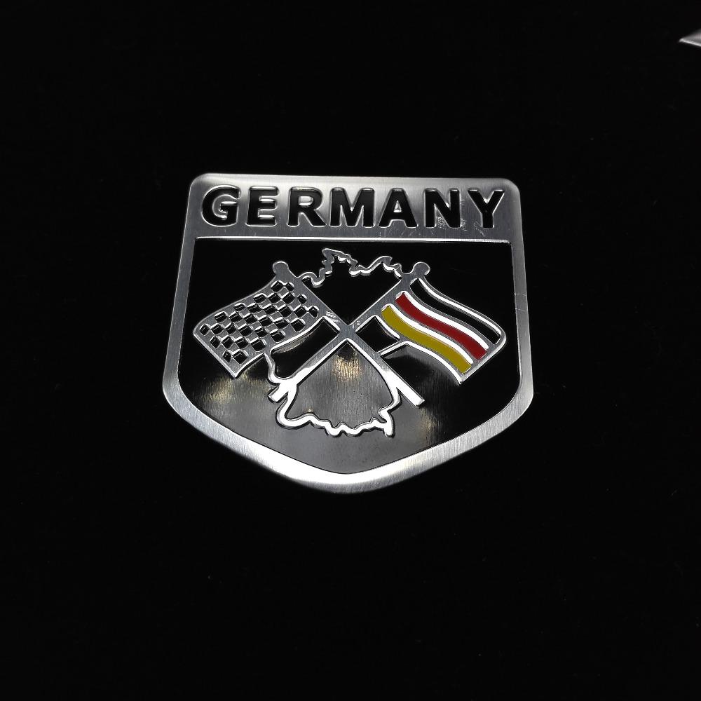Metal Aluminium car Emblem Badge Decal Sticker Racing Motorsport Germany German Flag for VW Benz BMW Audi free shipping<br><br>Aliexpress