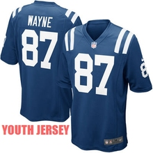 100% Stitiched,Indianapolis Colts,Andrew Luck,Reggie Wayne,for youth,kids(China (Mainland))