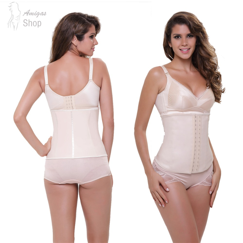Rubber Waist Trainer Corset Women Underbust Body Shaper Latex Training Cincher 2016 New 4 colors Wholesale Price Free Sipping(China (Mainland))