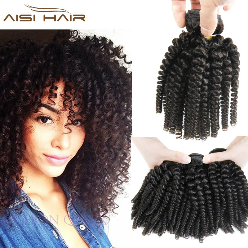 3 Bundles Deals Afro Kinky Curly Hair Spiral Curl Weave