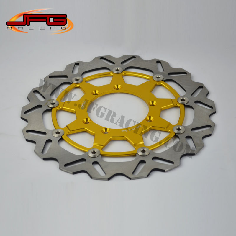 320MM GOLD FLOATING DISC FRONT BRAKE DISCS ROTORS CR 125 250 CRF 250R 250X 450R 450X MOTARD RACING OFFRAOD MOTOCYCLE - JFG store