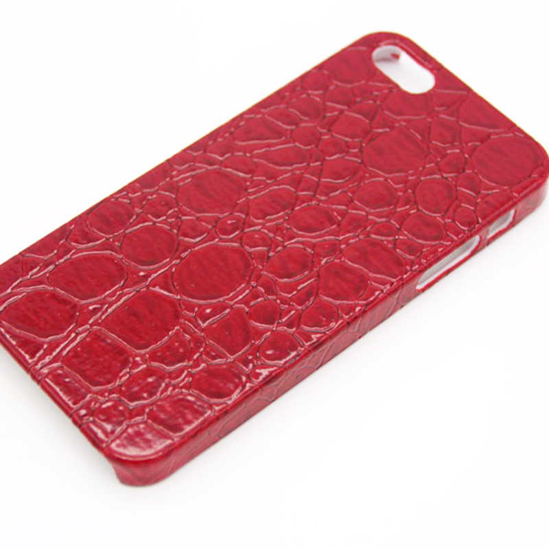 Crocodile PU Leather Back Hard Case Cover for iPhone 5 5S Cheap Mobile Phone Bags(China (Mainland))