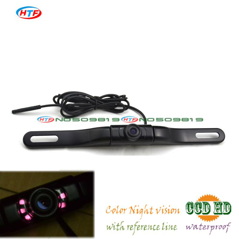 HOT! New car license plate camera with IR led lights car Rear View Camera Night Vision Parking Assistance, Free Shipping(China (Mainland))