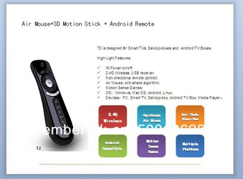 air mouse with 2.4G wireless usb receiver
