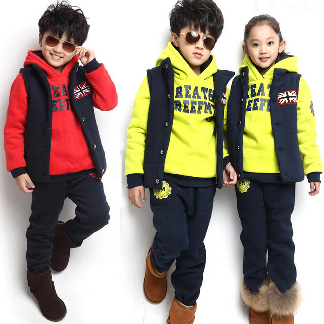 2014 Autumn Winter Children's Kids Clothing Baby Boy/girls Sports Suit Sweater Coat & pants Sets - Yiwu Superfashion E-commerce Business Firm store