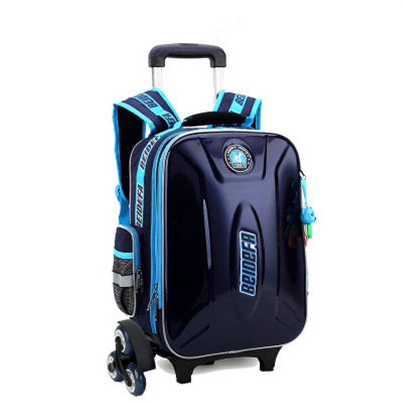 6 wheels Trolley schoolbag brand fashion backpack teenagers book bags primary school bag girls boys gift travel Luggage