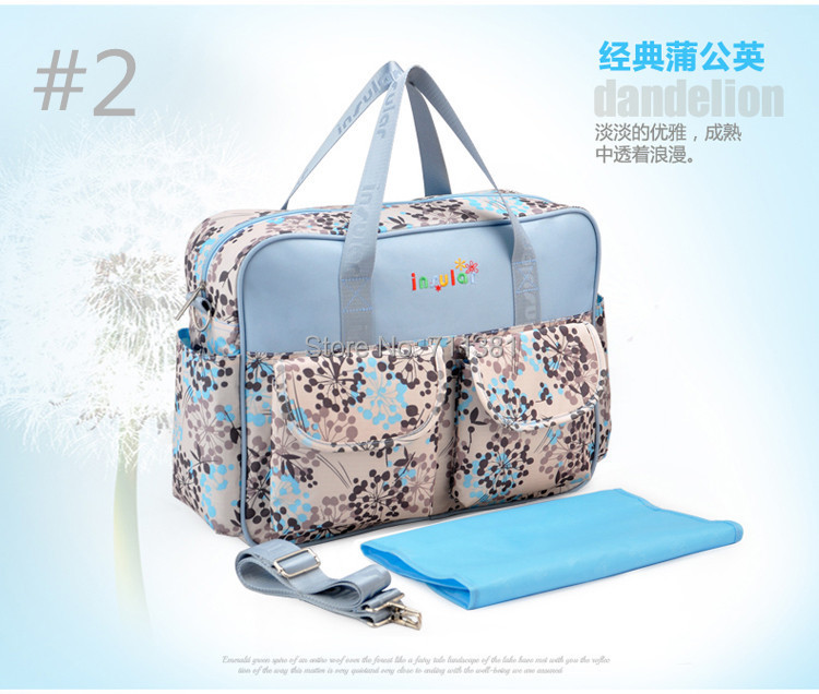 Fashion And Lovely Nylon Tote High Quality Mommy Bag Can Hand Carry Or Shoulder Carry Diaper Bag With Urine Pad Inside Hot Sale(China (Mainland))