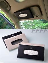 Car sun visor tissue boxes interior auto accessories paper napkin holder bag PU Leather case for Mazda 3 CX-5 ATENZA(China (Mainland))