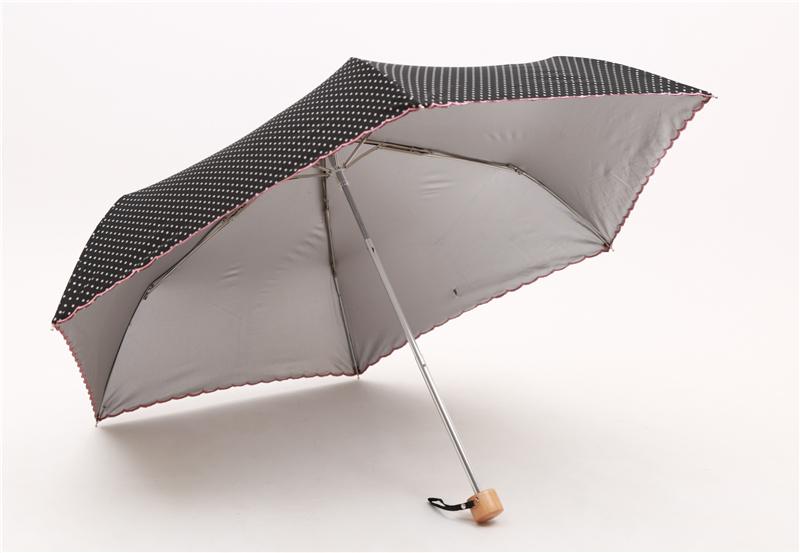 Dots style Women Three-folding Manual handy Rain and Sun Umbrella ...