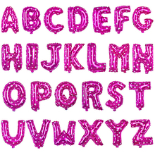16 inch Pink Letter A to Z Alphabet Foil Balloons Letter Birthday Party Wedding Thanksgiving Decoration Party Supplies B008(China (Mainland))