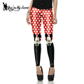 New Arrival Cute Mini Mouse Red Printed leggins for Women leggings