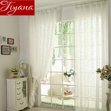 Buy Star Curtains Pure White Screen Yarn Window Curtains Voile Panel Kids Bedroom Living Room Balcony Curtains Tulle T&234 #20 for $5.48 in AliExpress store